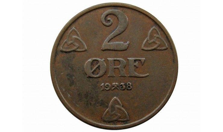 Норвегия 2 эре 1938 г.