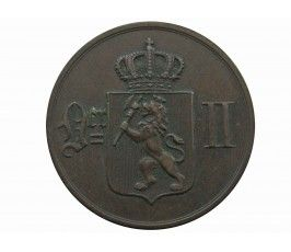 Норвегия 5 эре 1876 г.