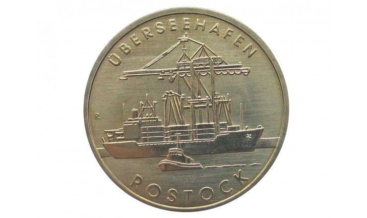 Германия 5 марок 1988 г. (30 лет порту города Росток)