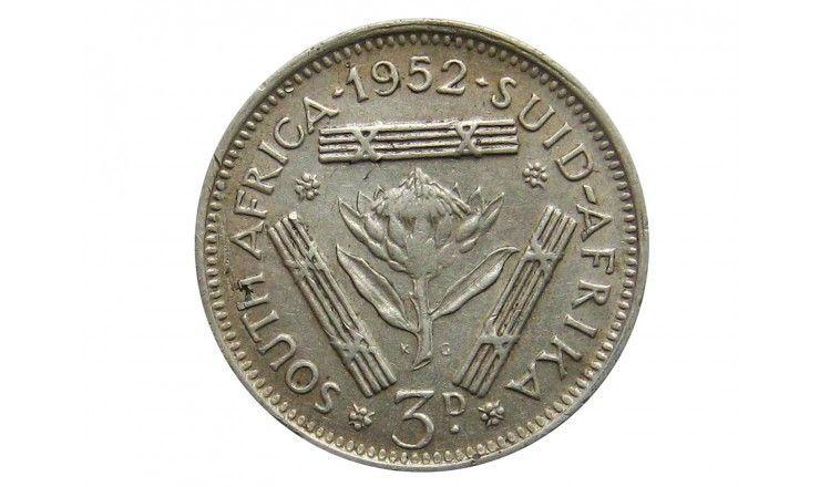 Южная Африка 3 пенса 1952 г.
