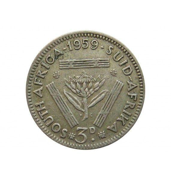 Южная Африка 3 пенса 1959 г.