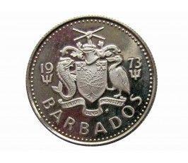 Барбадос 10 центов 1973 г. (proof)
