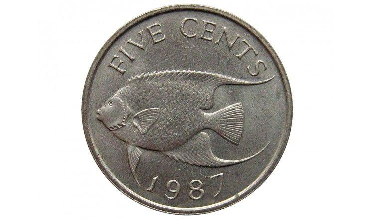 Бермудские о-ва 5 центов 1987 г.