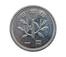 Япония 1 йена 1989 г. (Yr.1)