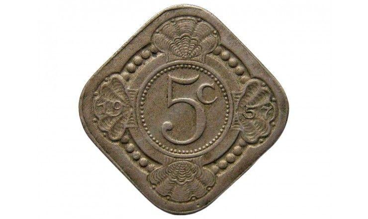 Нидерландские Антиллы 5 центов 1957 г.