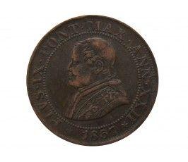 Ватикан (Папская область) 1/2 сольдо (2 1/2 чентезимо) 1867 г. (XXIIR)