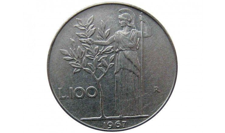 Италия 100 лир 1967 г.