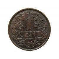 Нидерланды 1 цент 1918 г.