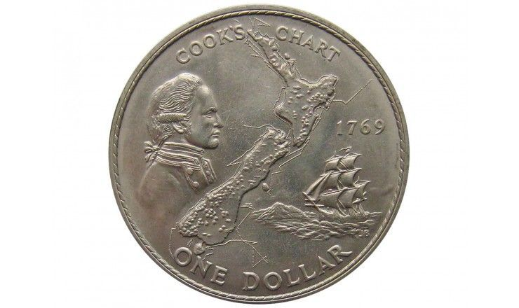 Новая Зеландия 1 доллар 1969 г. ( 200 лет путешествию Капитана Кука)