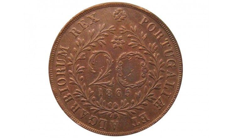 Азорские острова 20 рейс 1865 г.