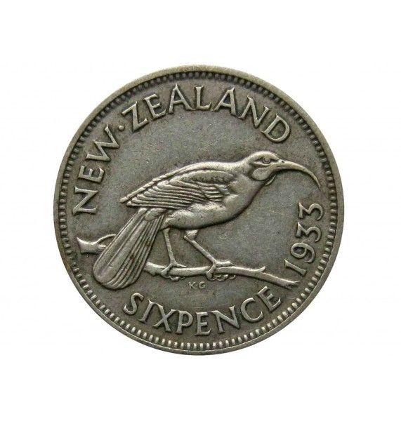 Новая Зеландия 6 пенсов 1933 г.
