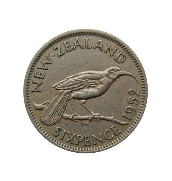 Новая Зеландия 6 пенсов 1952 г.