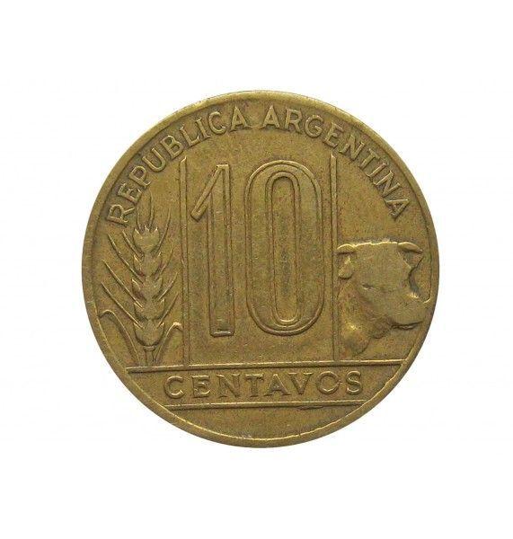 Аргентина 10 сентаво 1945 г.