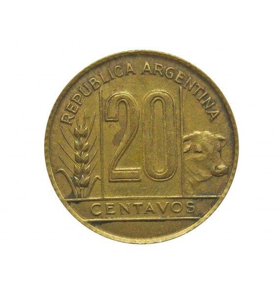 Аргентина 20 сентаво 1942 г.