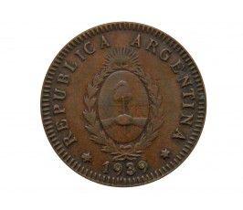 Аргентина 2 сентаво 1939 г.