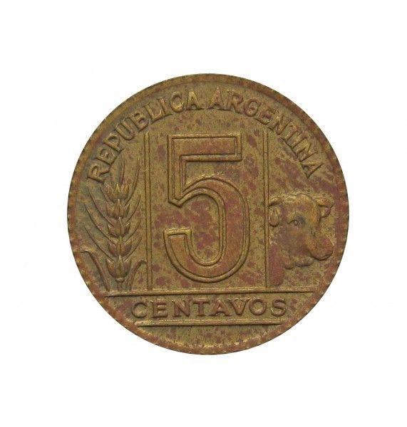 Аргентина 5 сентаво 1943 г.