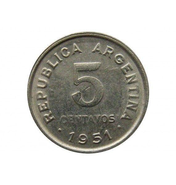 Аргентина 5 сентаво 1951 г.