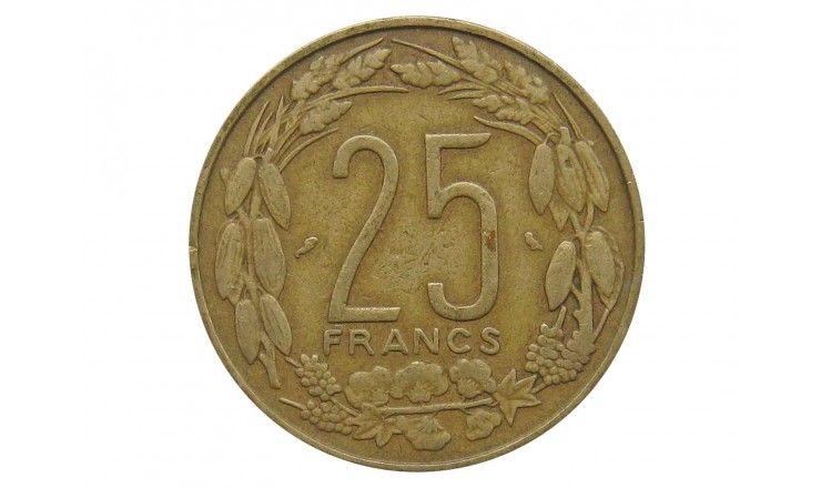 Экваториальная Африка 25 франков 1970 г.