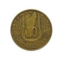Мадагаскар 10 франков 1953 г.