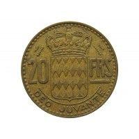 Монако 20 франков 1950 г.