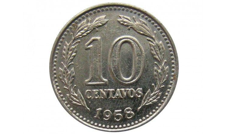 Аргентина 10 сентаво 1958 г.