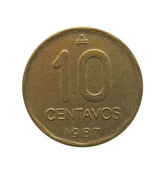Аргентина 10 сентаво 1987 г.