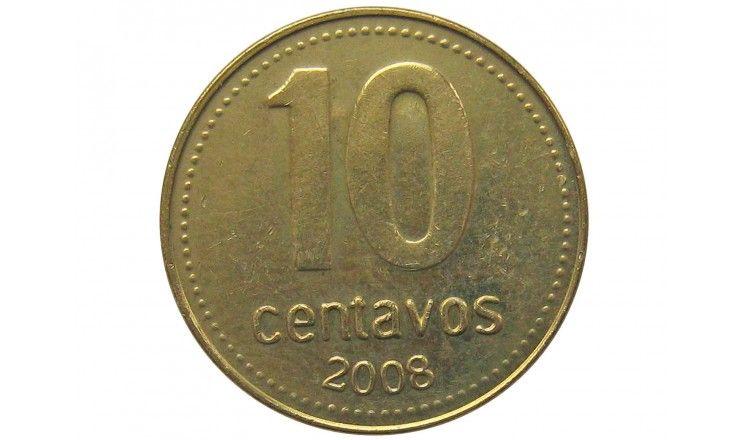 Аргентина 10 сентаво 2008 г.