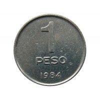Аргентина 1 песо 1984 г.