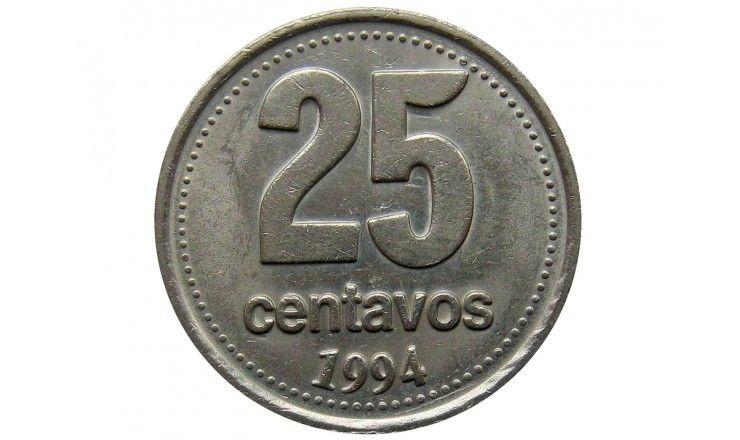 Аргентина 25 сентаво 1994 г.
