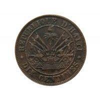Гаити 10 сантимов 1863 г.
