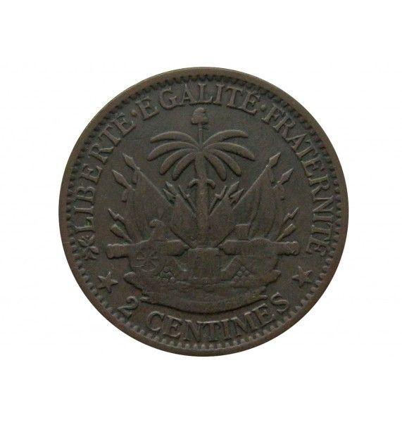 Гаити 2 сантима 1881 г.