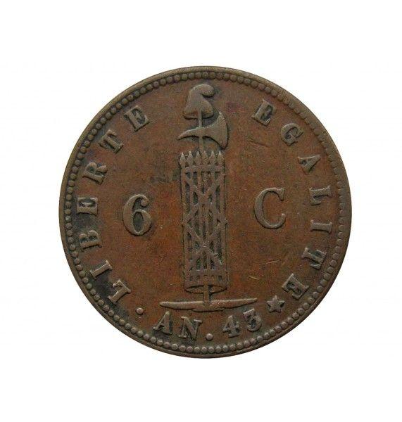 Гаити 6 сантимов 1846 г.