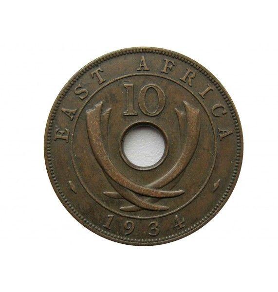 Британская Восточная Африка 10 центов 1934 г.