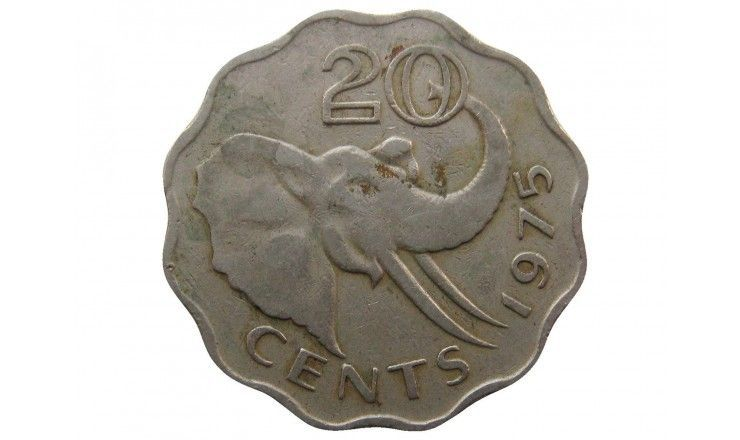 Свазиленд 20 центов 1975 г.