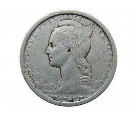 Французское Сомали 2 франка 1949 г.