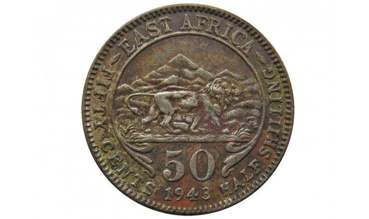 Британская Восточная Африка 50 центов 1943 г.