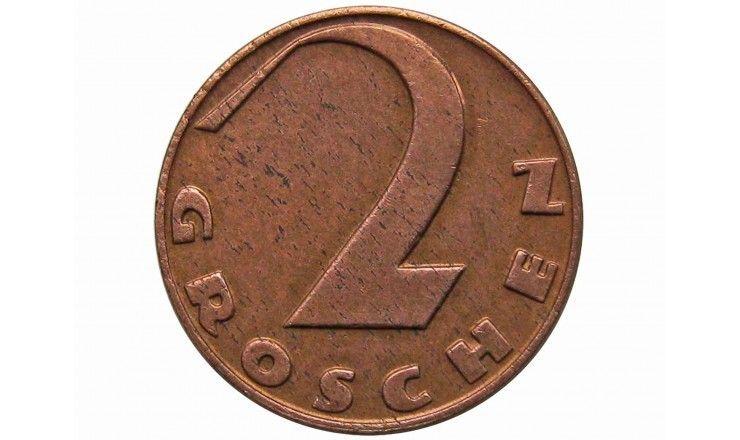 Австрия 2 гроша 1938 г.
