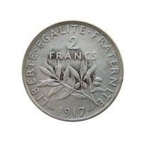 Франция 2 франка 1917 г.