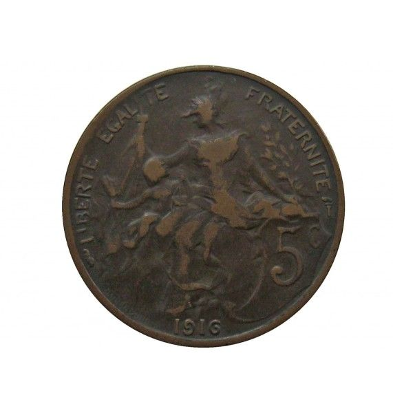 Франция 5 сантимов 1916 г.