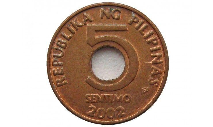 Филиппины 5 сентимо 2002 г.