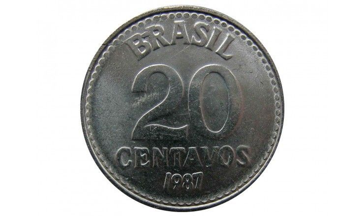 Бразилия 20 сентаво 1987 г.