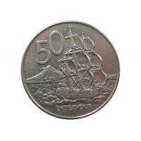 Новая Зеландия 50 центов 1988 г.