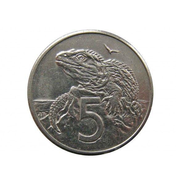 Новая Зеландия 5 центов 1986 г.