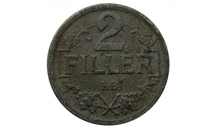 Венгрия 2 филлера 1917 г.