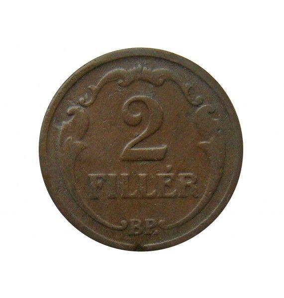 Венгрия 2 филлера 1927 г.