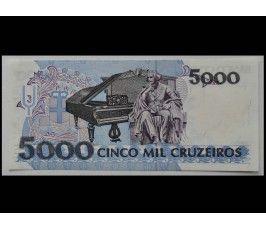 Бразилия 5000 крузейро 1990 г.