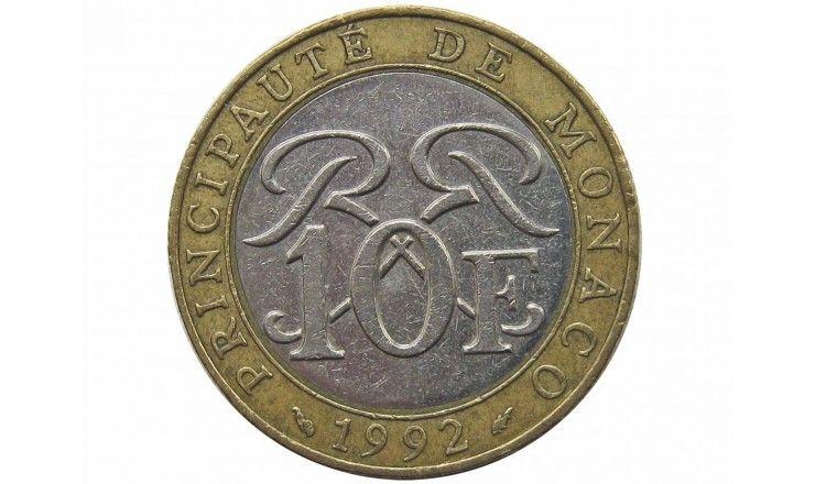 Монако 10 франков 1992 г.