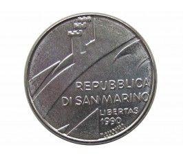 Сан-Марино 100 лир 1990 г. (Шестнадцать веков истории)