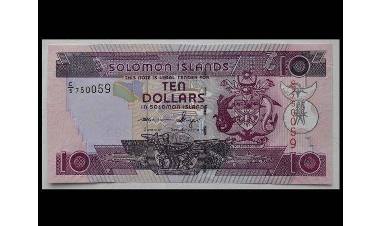 Соломоновы острова 10 долларов 2009 г.
