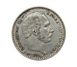 Дания 25 эре 1891 г.